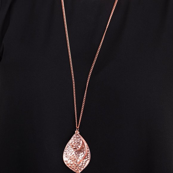 Changing Leaves Copper Necklace